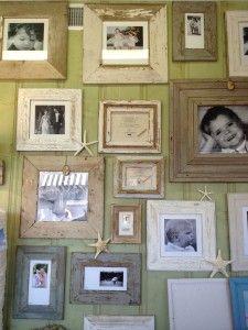 Frames - love the worn, rustic look