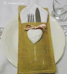OcaGattoLetto: Portaposate/Portatovaglioli per una tavola di festa