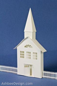 Ashbee Design 3D Ledge Village built with paper using Silhouette