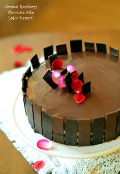 Chocolate Raspberry Cake, Love Chocolate, Homemade Chocolate, Chocolate Cakes, Mousse, Caramel, Something Sweet, Food And Drink, Candy
