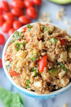 Caprese Quinoa Salad - An Italian-inspired meal made even more heart-healthy and protein-packed with quinoa!