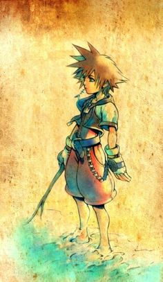 Kingdom hearts. Our first video game. I remember playing this in the basement with my brother :).