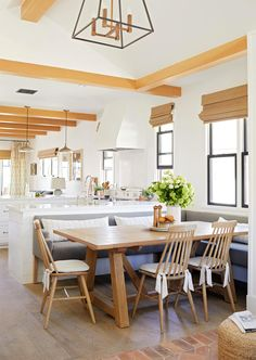 Interior designer Rosan Beltran takes us through the complete renovation of her 1936 Craftsman bungalow in Los Angeles. Dining Room Design, Dining Area, Dining Table, Dining Rooms, Kitchen Design, Clad Home, Window Seat Storage, Bungalow Renovation, Bungalow Interiors