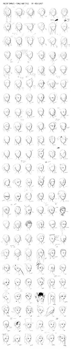 Comic Art Reference – Female Hair Styles -