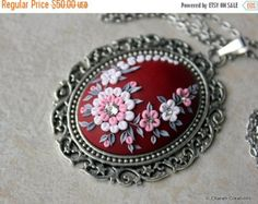 HOLIDAY SALE Gorgeous Polymer Clay Applique by charancreations