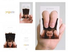 Bussiness card for yoga classes - brilliant! Street Marketing, Guerilla Marketing, Marketing Branding, Social Marketing, Unique Business Cards, Creative Business, Personal Cards, Effective Ads, Bussiness Card