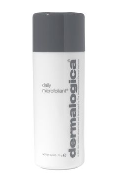 A Cleansing Powder  Most scrubs are too harsh to use regularly, especially if you have sensitive skin. But, when we approach our 30s and beyond, daily exfoliation can help boost the active ingredients in our favorite anti-agers, including vitamins A and C. Dermalogica's Microfoliant is a total cult classic, renowned for its super gentle grit, which releases a little acne-clearing salicylic acid once wet. Use it at night to supercharge your favorite serum.