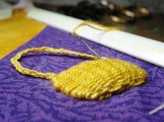 Stitch a woven basket