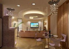 Stylish living room sofa set and dining set with false pop ceiling Home Design, Design Ideas, Living Room Lighting, Living Room Decor, Style Tudor, Pop False Ceiling Design, Plafond Design, Modern Led Ceiling Lights, Ceiling Decor
