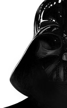 Star Wars. Black & White. Power. Force. Darth Vader. Icon. Movie Star. Mask. Art. Famous. Great Pic.