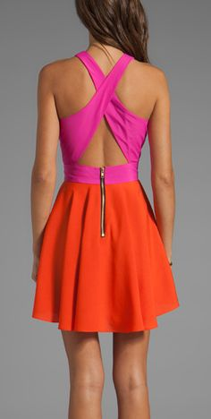 Colorblock dress for summer time