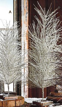 Roost Metallic Glitter Trees, Set/2 *Next Day Shipping* – Modish Store