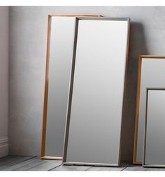 The Comet leaner mirror features a modern solid wood framed mirror with subtle tones of oak veneer in a grey finish. This mirror will effortlessly help to create the impression of light and space throughout your home. Hall Mirrors, Small Wall Mirrors, Wood Framed Mirror, Living Room Mirrors, Beveled Mirror, Decorative Mirrors, Ornate Mirror, Oval Mirror, Bedroom Mirrors