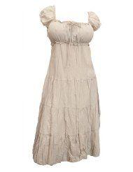 Cotton Peasant Dress,   Women's Size XL-5X