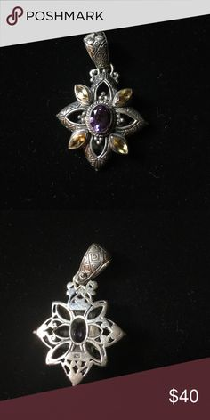 Balinese Pendant (silver & natural stones) Excellent condition Jewelry Necklaces