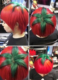 Funny pictures about Tomato Head. Oh, and cool pics about Tomato Head. Also, Tomato Head photos. Crazy Hair Days, Bad Hair Day, Veggie Tales, Red Hair Color, Grunge Hair, Hair Humor, Dyed Hair, Hair And Nails, Cool Hairstyles