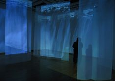 Rúrí, Water Vocal Endangered (2007) Five channel video installation projected onto transparent screens, interactive, audio, full audio system