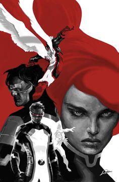 All New X-Men by Alexander Lozano #Cyclops #Angel #Iceman #JeanGrey #Mutants
