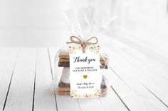Editable Baby Shower Favor Tags Floral Baby Shower Favor | Etsy Baby Shower Tags, Floral Baby Shower, Baby Shower Favors, Baby Shower Themes, Paper Mobile, Virtual Baby Shower, Bridal Shower Games, Favor Tags, Color Change