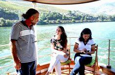 Vera Dantas no Douro à Vela com Anónio Pinto e a Sara Dias da Porto e Douro Moments