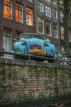 keizersgracht, Amsterdam Holland Netherlands - one of my favorites, they call this car - the Duck!