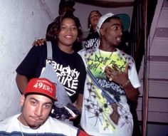 Kid Capri, Queen Latifah, and Tupac