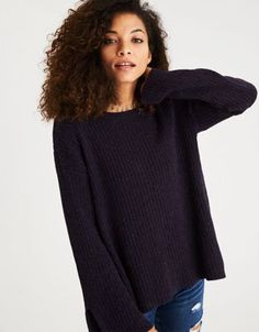 AEO Bell Sleeve Open Back Sweater by  American Eagle Outfitters | Sweater weather forever.Sweater weather forever. Shop the AEO Bell Sleeve Open Back Sweater and check out more at AE.com.