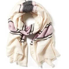 Old Navy Oversized Striped Scarf featuring polyvore, fashion, accessories, scarves, pink, fringe scarves, striped scarves, old navy scarves, fringed shawls and oversized scarves