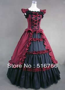 Free Shipping & Custom Made Ball Gown Palace Barbie Victorian Gothic Lolita Cosplay Floor-Length Tiered Prom Dresses on AliExpress.com. $149.50