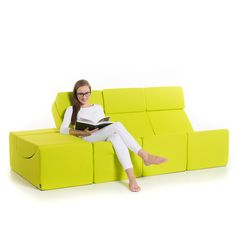 The Moon chaise longue is a simple yet extremely useful furnishing element designed for comfortable sitting, lying or use as a low table. The Moon ele...