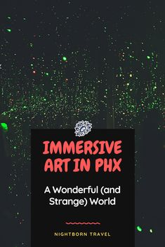 Immersive art experiences engage all your senses and allow you to experience other worlds. Find out where you can dive in in Phoenix, Arizona. Phoenix Art, Phoenix Arizona, Arizona National Parks, Arizona Attractions, Honeymoon Tips, Arizona Travel, Responsible Travel, United States Travel, Weird World