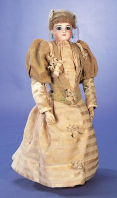 Memories of a Marriage: 43 Bisque Poupee by Jumeau in Original Wedding Costume