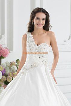 Wunderschönes Extravagantes Brautkleid 2013 aus Taft mit Perlenstickerei