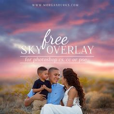 Free Sunset Sky Overlay For Photoshop and Elements | Find more freebies & tutorials at www.morganburks.com