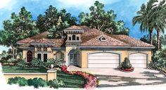 Exciting Courtyard House Plan - 33532EB | 1st Floor Master Suite, Butler Walk-in Pantry, CAD Available, Courtyard, Den-Office-Library-Study, Exclusive, Florida, Luxury, Mediterranean, PDF, Split Bedrooms | Architectural Designs