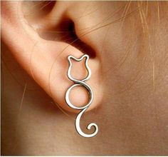 cat wire earring