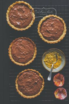 Chocolate and Passion Fruit Tarts Recipe