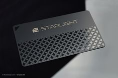 Quick laser engraved metal business card - Starlight More - Graphic Vital