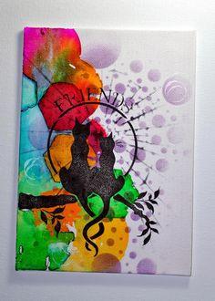 Eileen's Crafty Zone: Bleeding Art Tissue -You Tube Tutorial Aquarelle avec du papier de soie
