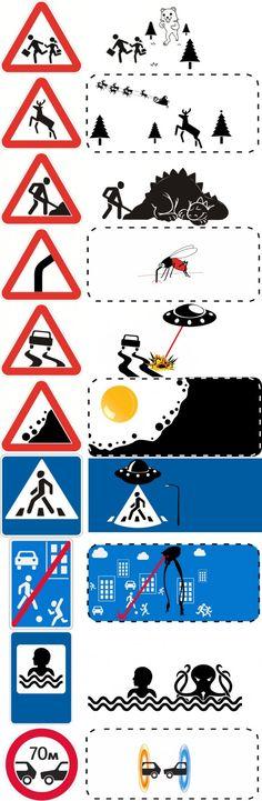#crazy roadsigns #lol