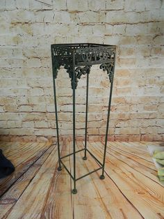 Vintage Cast Iron Metal Plant Stand