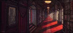 Library Corridor by andreasrocha.deviantart.com on @deviantART