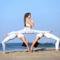 50 Fantastic Yoga Poses You Can Try In 2019 50 Fantastic Yoga Poses You Can Try In can be done any where and anytime. If you are a yoga lover, then you can do yoga by yoursel Acro Yoga Poses, Partner Yoga Poses, 3 Person Yoga Poses, Group Yoga Poses, Yoga Fitness, Fitness Workouts, Butt Workout, Yoga Inspiration, Fitness Inspiration