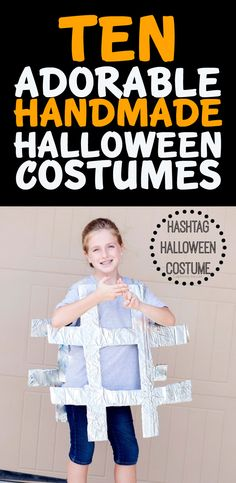 10 Creatively Cute Handmade Halloween Costumes -- hashtag costume is brilliant Handmade Halloween Costumes, Homemade Costumes, Cute Costumes, Halloween Kostüm, Holidays Halloween, Halloween Decorations, Costume Ideas, Holiday Crafts, Holiday Fun