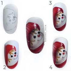 33 Practical Tutorials To Get Cute Christmas Manicure Nail Art Noel, Christmas Manicure, Xmas Nails, Winter Nail Art, Christmas Nail Art, Holiday Nails, Winter Nails, Red Nail Designs, Winter Nail Designs