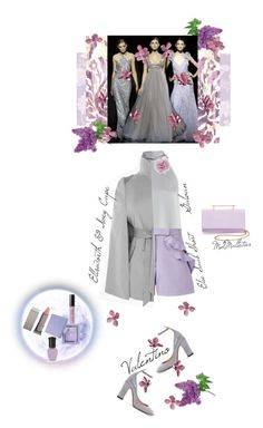 """""""Lilac & Grey"""" by onesweetthing ❤ liked on Polyvore featuring Galvan, M2Malletier, Bobbi Brown Cosmetics, Cara, Elie Saab, Valentino, Ellsworth & Ivey, Lipstick Queen, AMOUAGE and Deborah Lippmann"""