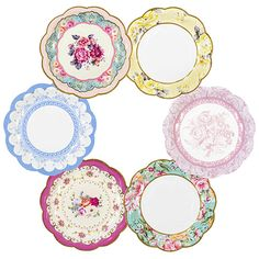 Truly Scrumptious Vintage Afternoon Tea Party Plates - Party Ark
