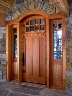 craftsman front doors for homes   Custom contemporary craftsman entrance entry d...