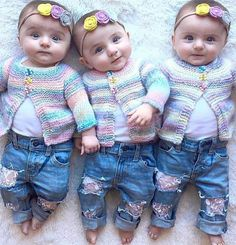 Uh oh daddy are you in trouble when they become teenagers, better have that parverbial shot Cute Little Baby, Baby Kind, Baby Love, Twin Baby Girls, Twin Babies, Cute Twins, Cute Babies, Beautiful Children, Beautiful Babies
