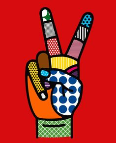☮ American a Hippie ~ Psychedelic Peace Sign